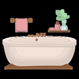 Elegante bañera plana