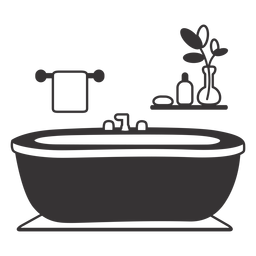 Elegant bathtub silhouette
