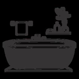 Elegante silueta de bañera