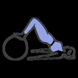 Pelota de ejercicios pilates