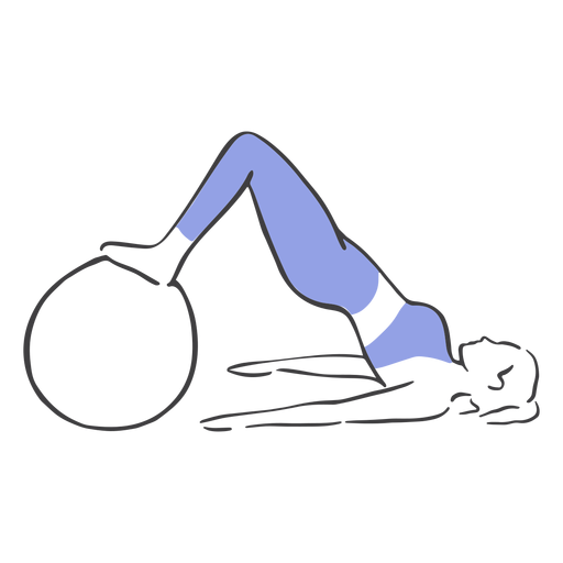Pelota de ejercicios pilates Transparent PNG