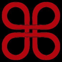 Geometric chinese knot