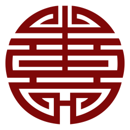 Símbolo geométrico vermelho chinês