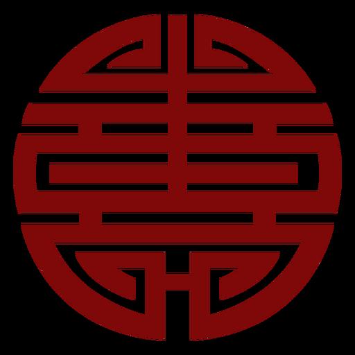 Símbolo rojo geométrico chino