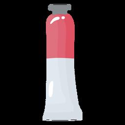 Glossy paint tube