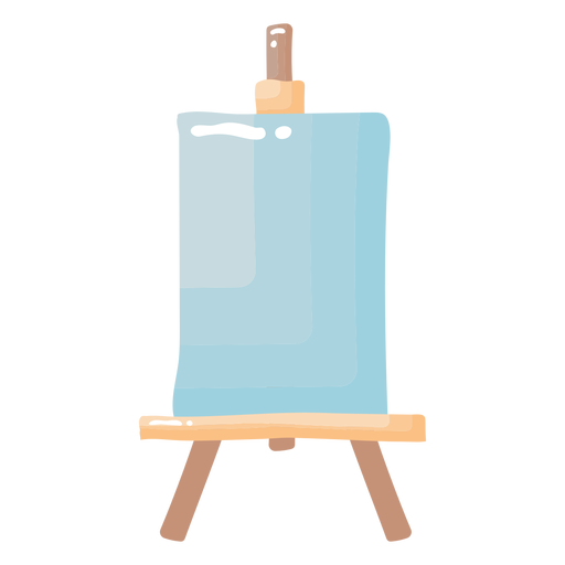 Glossy painting easel