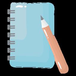 Cuaderno lápiz brillante
