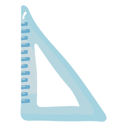 Glossy triangle ruler