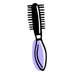 Hair roller brush duotone