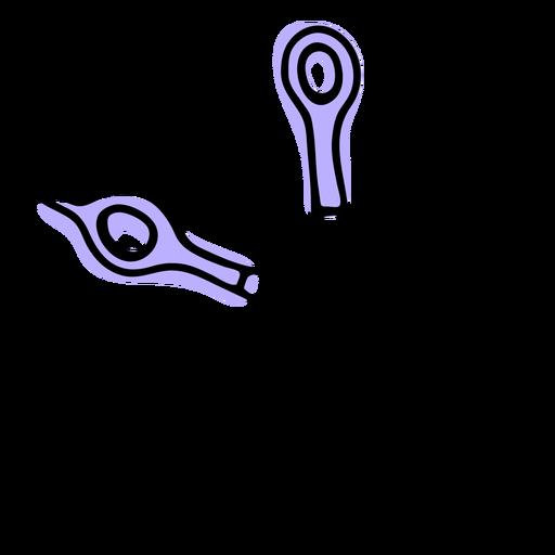 Hair scissors duotone