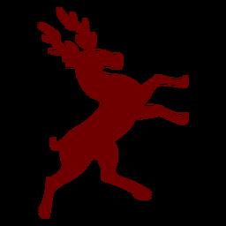 Heraldry emblem deer side view silhouette