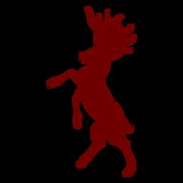 Silhueta de veado com emblema de heráldica