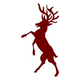 Silhueta de veado de emblema de heráldica