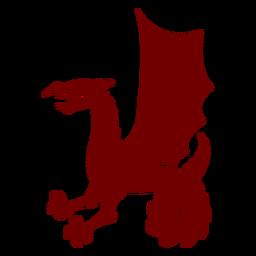 Silhueta de dragão com emblema de heráldica