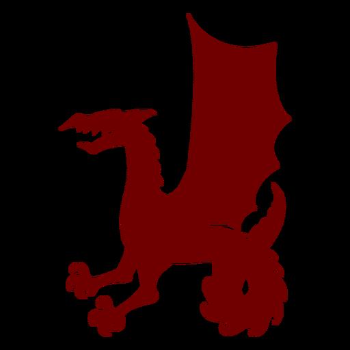 Heráldica emblema dragón silueta