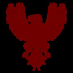Heráldica emblema águila silueta