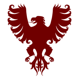 Heraldry emblem eagle silhouette