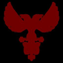Heraldry emblem eagles silhouette