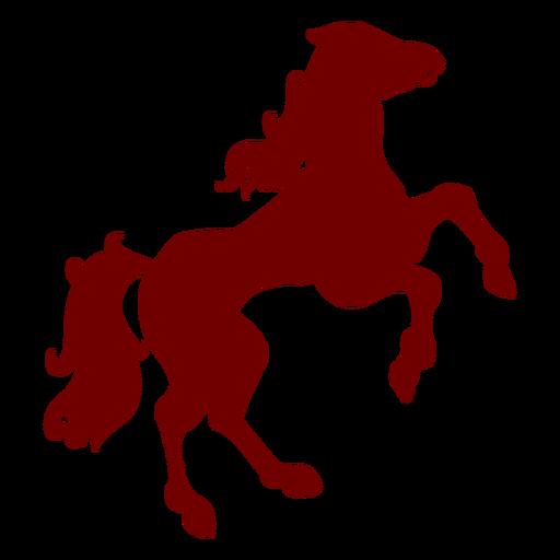 Heraldry emblem horse silhouette