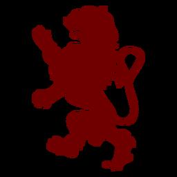 Silhueta de leão de emblema de heráldica