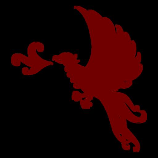 Silhueta da fênix do emblema da heráldica