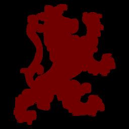 Heraldry emblem sheep silhouette