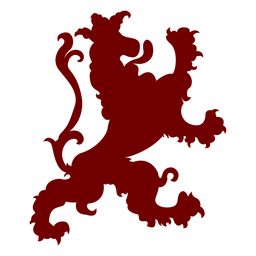 Silhueta de ovelha emblema heráldica