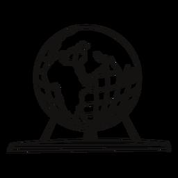 Globo planetario grande