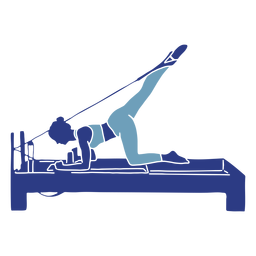 Leg stretch pilates reformer silhouette