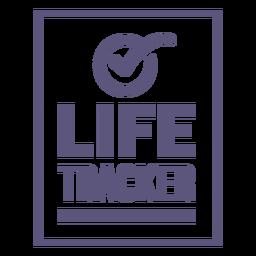 Life tracker badge
