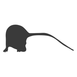 Silhueta de rato de cauda longa