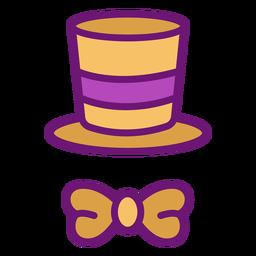 Arco de sombrero de mago de color