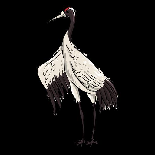 Majestic crane bird