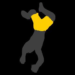 Silueta de salto de acantilado de hombre