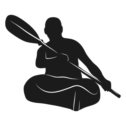 Silueta de kayak de hombre Transparent PNG