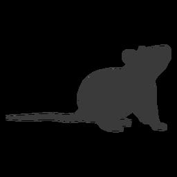 Ratón mirando hacia arriba silueta