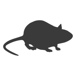 Mouse side view silhouette