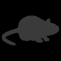 Silhueta de vista lateral do mouse