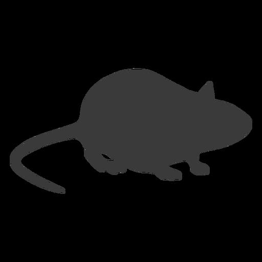 Silueta de vista lateral del mouse