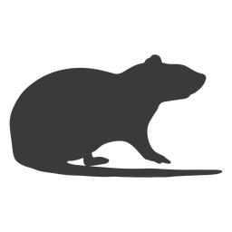 Mouse silhouette side view