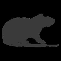 Vista lateral do mouse silhueta