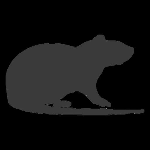 Vista lateral de la silueta del mouse
