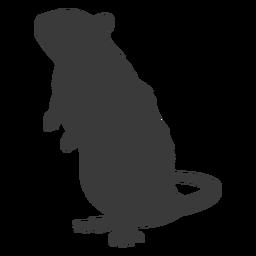 Silhueta do mouse em pé