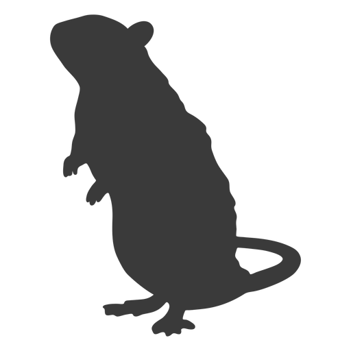 Mouse standing silhouette