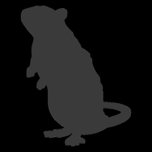 Silueta de pie de ratón