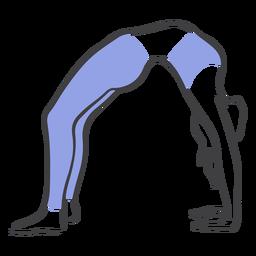 Postura de estiramiento de espalda de Pilates