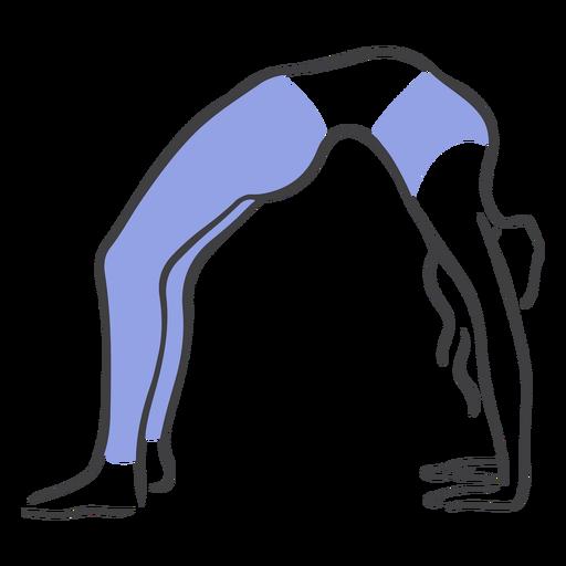 Pilates back stretch pose Transparent PNG