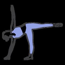 Pose de equilibrio de Pilates