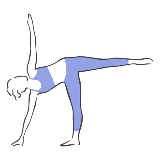 Pilates balance pose Transparent PNG