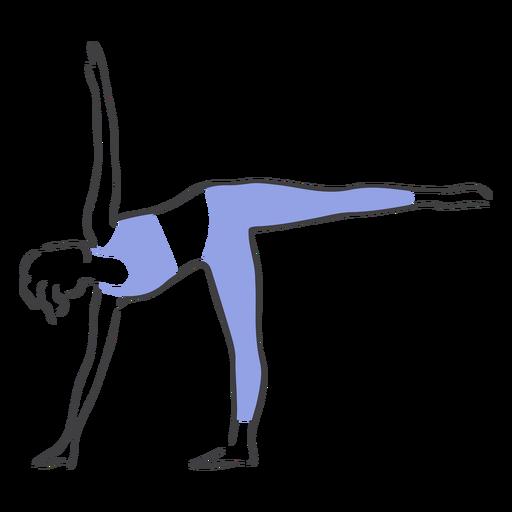 Pose de equilibrio de Pilates Transparent PNG